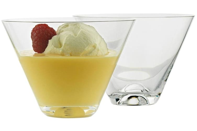 Ecology Dessert V Shape Glass Bowls Set of 4