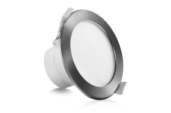 10 x LUMEY LED Downlight Kit Dimmable Daylight White 10W Silver
