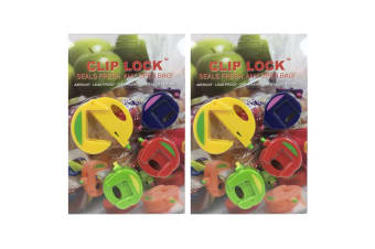 8pc Clip Lock Magnetic Airtight Seal/Grip Leak-Proof Sealer for Food Bag/Bags