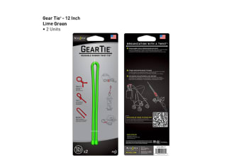 "Nite Ize Gear Tie 12""- 2 Pack - Lime"