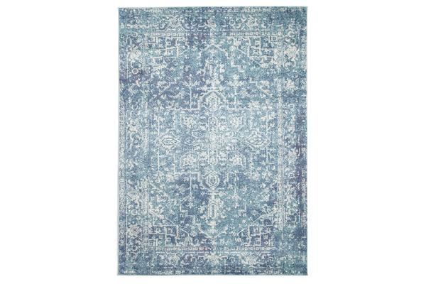 Muse Blue Transitional Rug 400x300cm