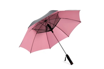 Fan Sunshade Outdoor Ultraviolet-Proof Golf Umbrella - Pink Pink