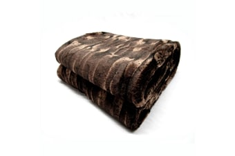 Rustic Bear Faux Fur Throw by Paxton & Wiggin