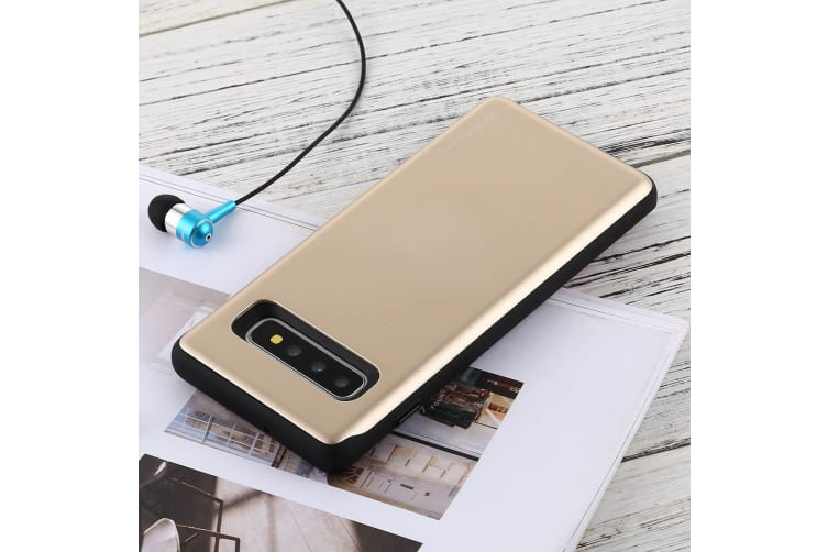 For Samsung Galaxy S10+ Case Gold Sky Slide Bumper TPU + PC Cover