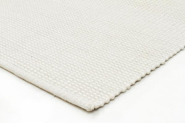 Carlos Felted Wool Rug White Natural 225x155cm