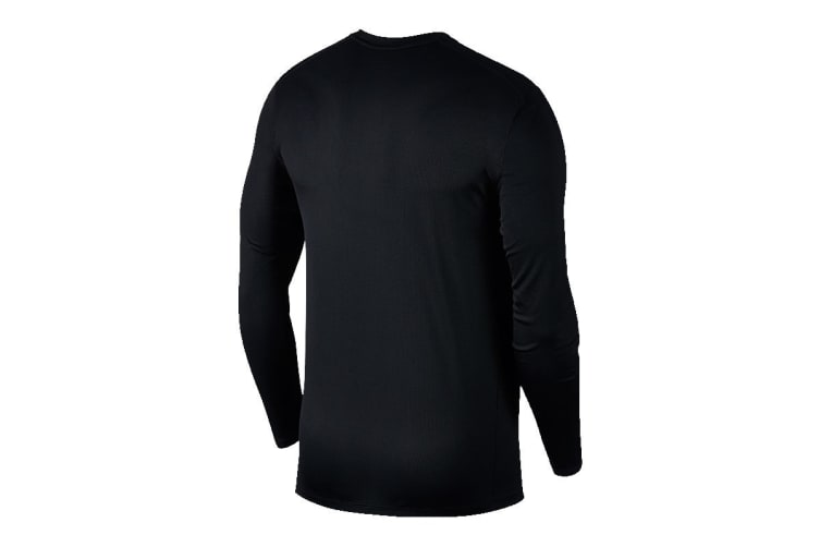 Nike Breathe Run Men's Long Sleeve Top (Black, Size L)