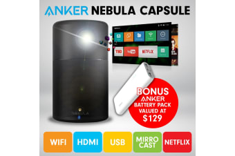 Nebula Capsule Smart Mini Projector by Anker with Battery Pack
