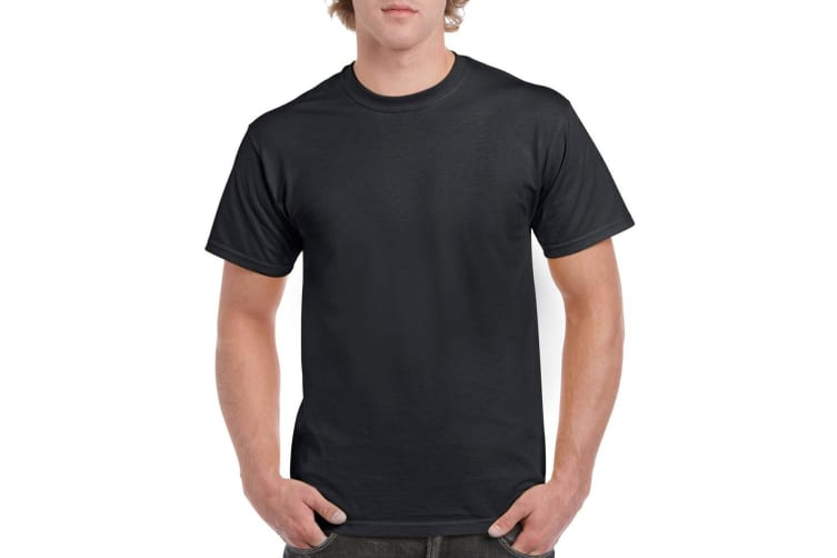 Gildan Mens Heavy Cotton Short Sleeve T-Shirt (Black) (2XL)