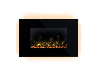Dimplex 2000W Toluca Wall Electric Fireplace Heater w/Bluetooth Wireless Speaker