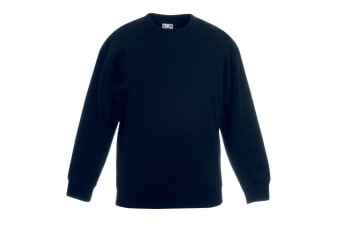 Fruit Of The Loom Kids Unisex Premium 70/30 Sweatshirt (Pack of 2) (Black) (9-11 Years)