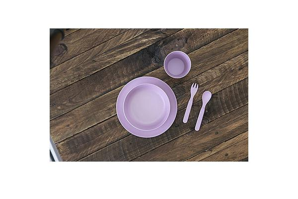 Bobo & Boo Kids Bamboo Dinner Set 5pc Lilac