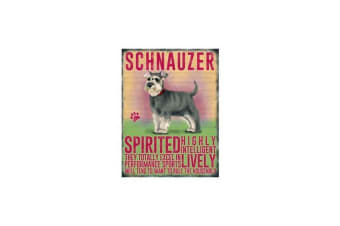 Schnauzer Hanging Metal Sign (Red) (One Size)
