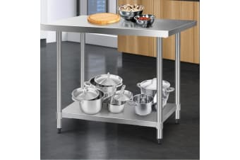 Stainless Steel Kitchen Benches Work Bench Food Prep Table 1219x610