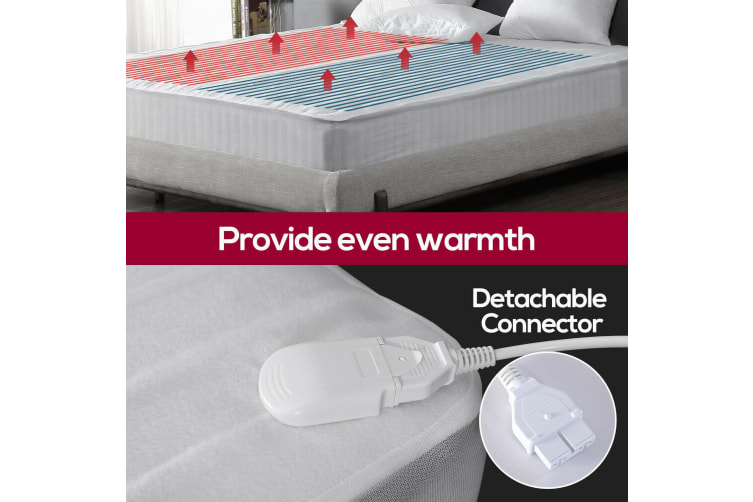 Dreamz Washable Polyester Electric Blanket Heated Fully Fitted Warm Bed King