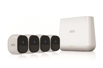 Arlo by Netgear VMS4430 Indoor/Outdoor Wire-Free HD Home Security System with 4 x Arlo Pro Cameras (VMS4430-100AUS)