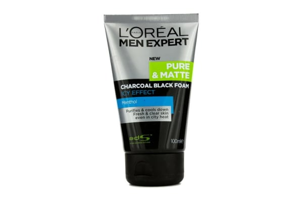 L'Oreal Men Expert Pure & Matte Icy Effect Charcoal Black Foam (100ml/3.4oz)