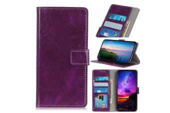 For Google Pixel 4 XL Case Retro Protective Leather Wallet Cover Holder Purple