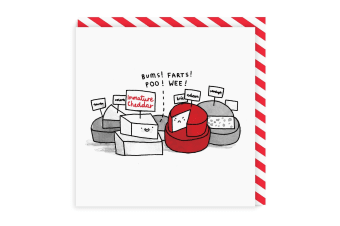 Ohh Deer Immature Cheese Square Greeting Card (Multicoloured)