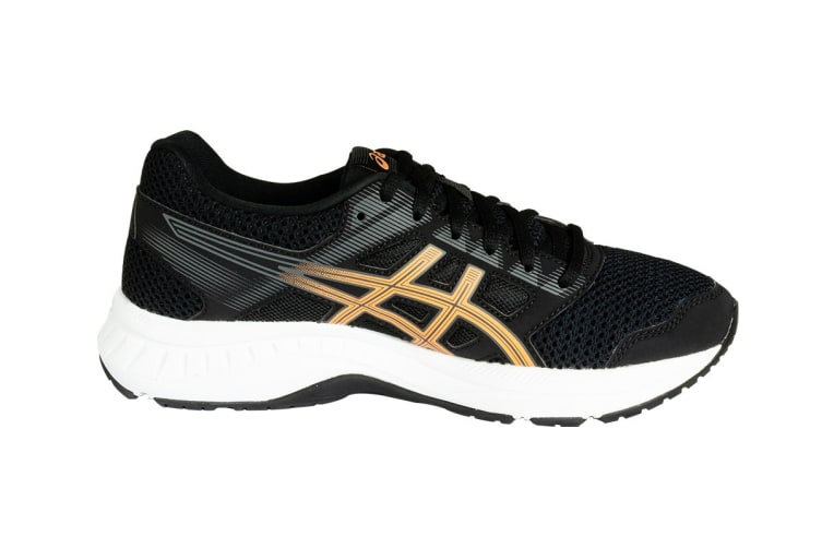ASICS Women's GEL-Contend 5 Running Shoes (Black/Summer Dune, Size 6)