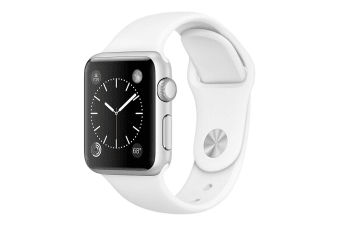Apple Watch Series 1 (38mm, Silver, White Sport Band)