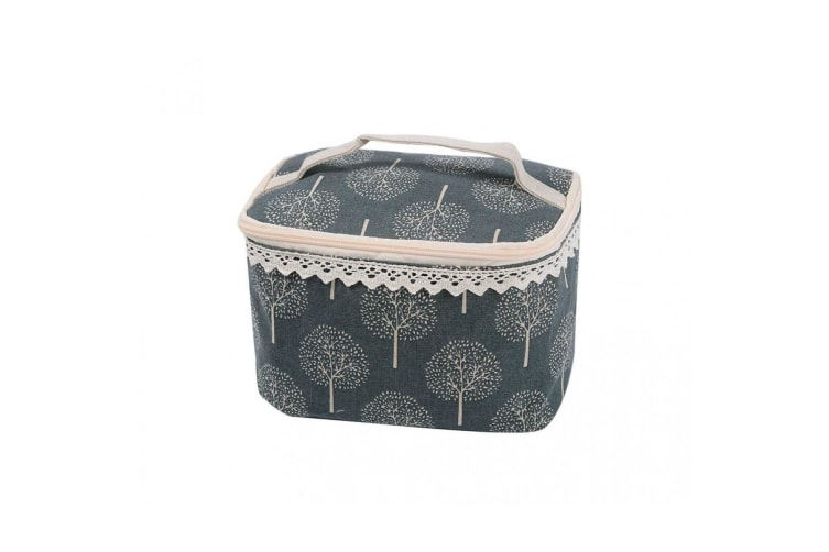 Intrigue Womens/Ladies Tree Print Soft Makeup Case (Grey) (One Size)