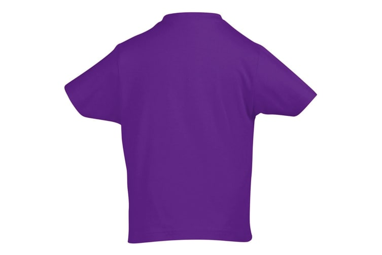 SOLS Kids Unisex Imperial Heavy Cotton Short Sleeve T-Shirt (Dark Purple) (12yrs)