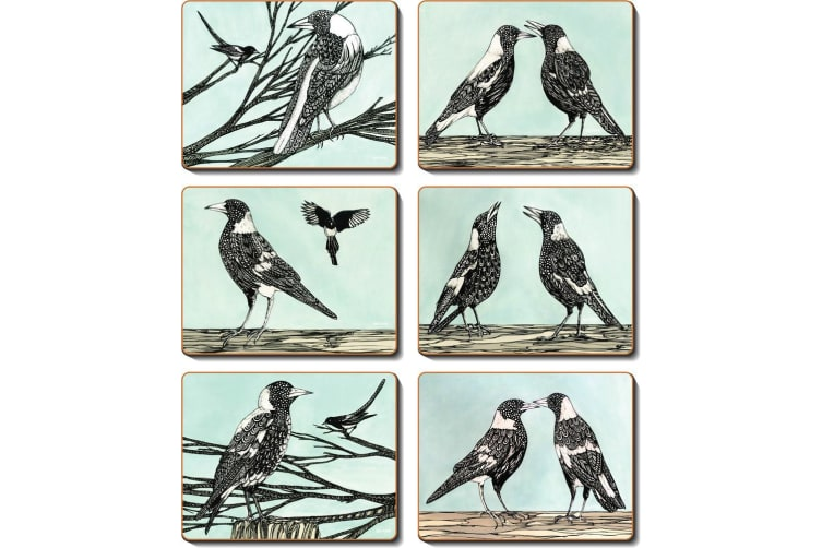 Cinnamon Magpie Song Placemat Set of 6