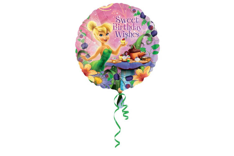 Amscan 18 Inch Disney Tinker Bell Happy Birthday Circular Foil Balloon (Pink) (One Size)