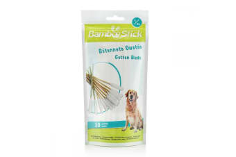BambooStick Pet Cotton Buds (Pack Of 30) (May Vary)
