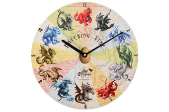 Age Of Dragons 34cm Hatching Time Clock (Multicoloured)