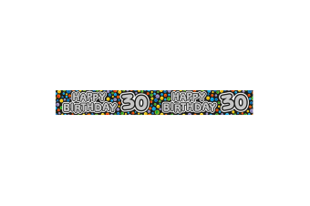 Expression Factory Happy 30th Birthday Polka Dot Foil Party Banner (Multicoloured)