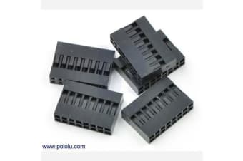 """0.1"""" (2.54mm) Crimp Connector Housing: 2x8-Pin 5-Pack"""