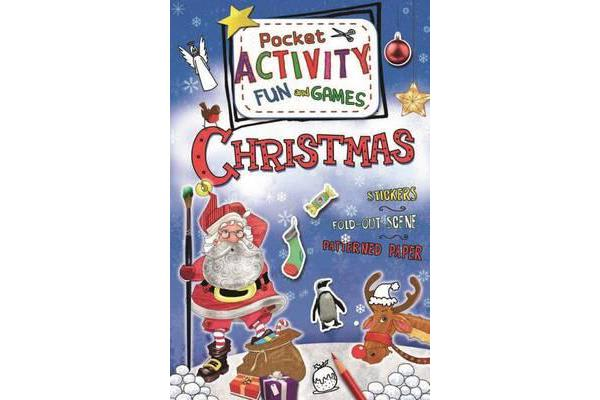 Christmas Pocket Activity Fun and Games - Games, Puzzles, Fold-Out Scenes, Patterned Paper, Stickers!