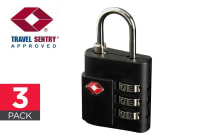 3 Pack Orbis TSA Luggage Lock