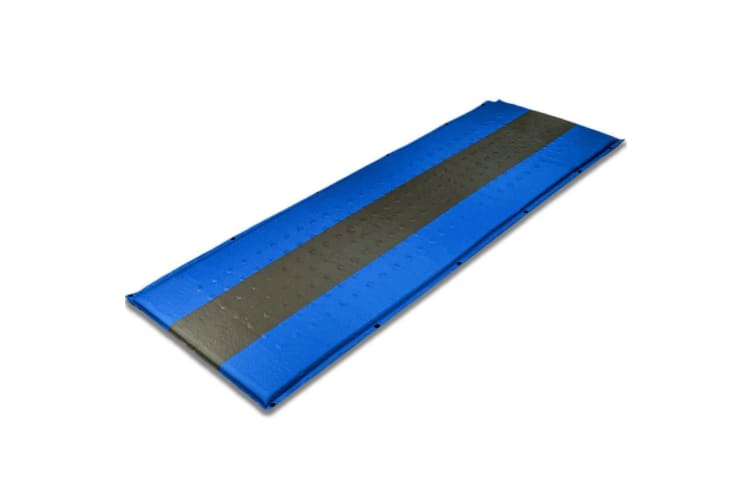 Self Inflating Mattress Sleeping Pad Mat Air Bed Camping Camp Hiking Joinable Blue