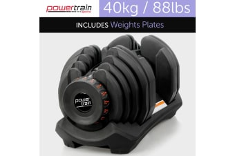 40kg Powertrain Home Gym Adjustable Dumbbell