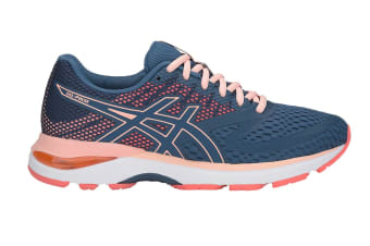 ASICS Women's GEL-Pulse 10 Running Shoe (Grand Shark/Baked Pink, Size 8)