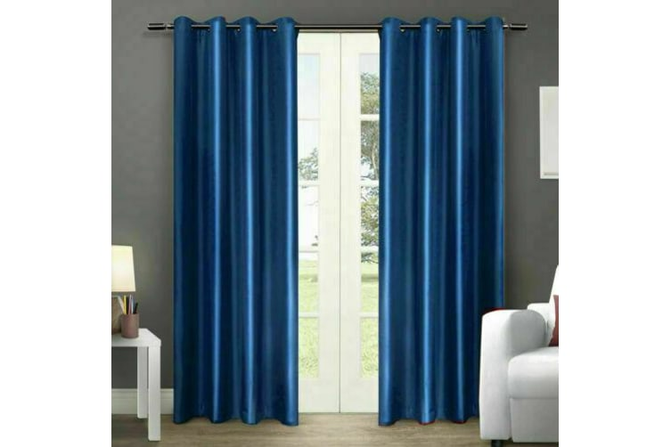 2x Blockout Curtains Panels Blackout 3 Layers Eyelet Room Darkening  180x230cm