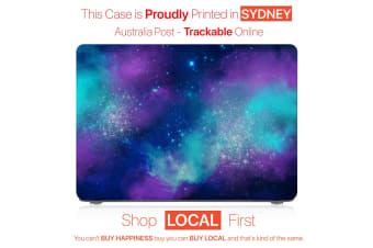 "Hard Case Cover for Apple Macbook Pro 13"" Inch  A1708-Matte Clear-Universe Purple"