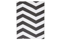 Coastal Indoor Out door Rug Chevron Black White 270x180cm