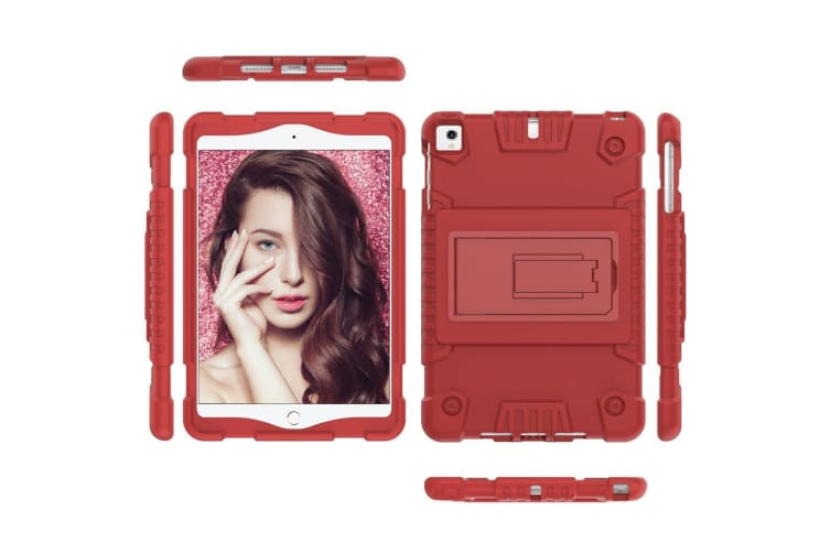 For iPad mini 5 (2019) Case Full Cover TPU Protective Back Shell Cover Red
