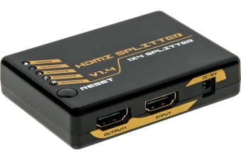 4 Way HDMI Splitter V1.4a 10.2Gbps Bandwidth