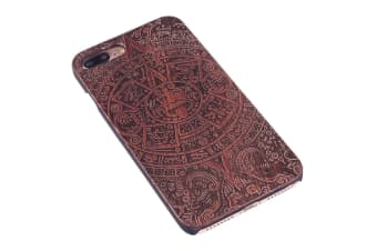 For iPhone 8 PLUS 7 PLUS Case Rosewood Mayan Wooden Durable Protective Cover