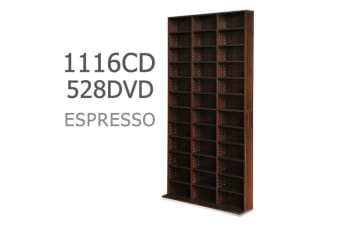Adjustable CD DVD Book Storage Shelf (Brown)