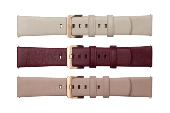 Samsung Galaxy Watch 42mm -3 Pack Straps (20mm band) - Cream, Pink, Red