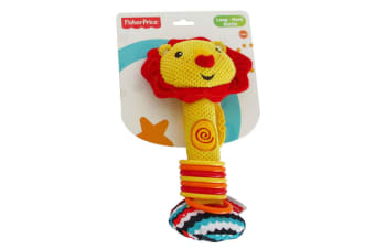 Fisher Price Lion Long-Neck Squeaker Rattle Educational/Interactive Toy Baby 0m+