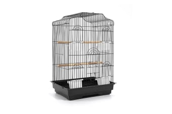 Pet Bird Cage Medium 68CM (Black)