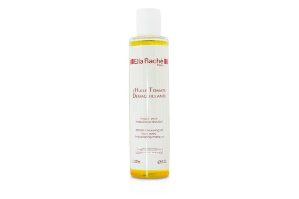 Ella Bache Tomato Cleansing Oil for Face, Eyes, Long-wearing Make-up (Salon Size) (200ml/6.76oz)