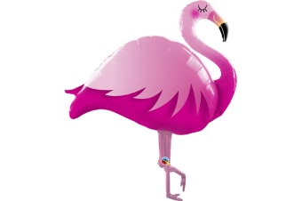 Qualatex 46 Inch Flamingo Shaped Foil Balloon (Pink) (One Size)