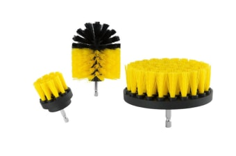 Drill brush 3Pcs Scrub Brush Drill Attachment Kit,Time Saving Kit And Power Scrubber Cleaning Kit, For Car, Bathroom, Laundry Room Cleaning